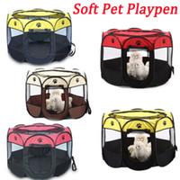 Pet suave Oxford filhote de cachorro gato impermeável Dog Playpen Jogar Grande Tenda Crate Gaiola redonda Outdoor portátil 2 TAMANHO