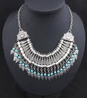 Fashion-l intagliato Coin Retro intagliato Coin diamante della lega collana Freccia catena della clavicola catena della clavicola della DHL regalo di Natale Collana