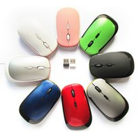 2.4G USB Rato Direito Ratos Mouse Sem Fio USB 2.0 Receptor Super Slim Mini Bonito Mouse Óptico Sem Fio para Laptop PC Video Game