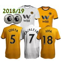 2019 Wolverhampton Wanderers Soccer Jersey Home Yellow 7# CA...