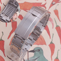 Watchband 20MM حزام حزام 316L الفولاذ المقاوم للصدأ سوار منحنى نهاية فضة ووتش اكسسوارات الرجل Watchstrap للغواصة
