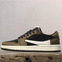 2019 New Travis Scott x 1 Low Limited Basketball Shoes 1s De...