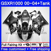 + Tank Für SUZUKI GSX R1000 GSX-R1000 Grau schwarz heiß GSXR1000 01 02 03 04 299HM.19 GSXR-1000 K2 K3 GSXR 1000 2000 2001 2002 2003 2004 Verkleidung