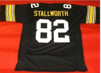 Özel Erkekler Gençlik kadınlar herhangi bir ad veya numara forması özel Vintage ÖZEL # 82 JOHN Stallworth SİYAH Futbol Jersey boyutu s-4XL veya
