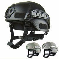 Qualidade Leve RÁPIDO Capacete MH Tactical Capacete Airsoft Gear Paintball Cabeça Protetora para CS SWAT Equitação Caça Tiro proteger