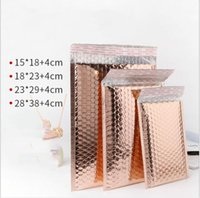 50pcs Usable space Rose Gold Poly bubble Mailer envelopes pa...