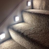 LED 센서 나이트 라이트 젯 조명 배터리 운영 LED 모션 센서 벽 램프 내각 계단 라이트 스틱에