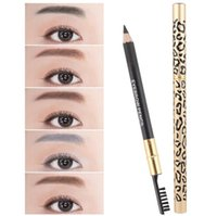 Maquillage de maquillage Leopard Professionnel Maquillage Maquillage Brosse Crayon Black / Brown Sourcils Enhanceurs Free Ship 24pcs