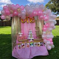 124pcs / 세트 발렌타인 데이 풍선 장식 조각 블링 풍선 축제 생일 파티 용품 웨딩 쇳조각 Airballoon 장식품 E32502