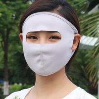 6色の夏の日焼け止めの大きい呼吸器の換気フルフェイスマスク成人女性の口マスク通気性マスクZZA1952