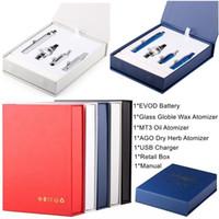 Cam Globle Vape Kartuşları ÖNCE 1 E Sigara Başlangıç Seti Dab Kalem Wax Vaporizer 650mAh 900mAh 1100mAh Vape Kalem EVOD Pil MT3 Magic 3