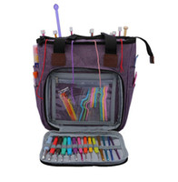 Portátil Knitting Bag fios de lã Crochet Hooks esvaziar Armazenamento de costura Agulhas Organizador de costura Knitting Storage Bag Pouch Organizador KKA7959