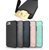 فتحة بطاقة كفر درع غطاء لاجهزة ايفون X XS MAX XR 8 7 6 Plus 9