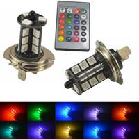 2x 9005 9006 H11 H7 1156 RGB LED Auto Car Headlight 5050 LED SMD 27 della nebbia della lampadina della luce della testa della lampada con telecomando Car Styling