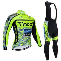 2020 Fluor Tinkoff ciclismo Maglie maniche lunghe Bike Camicie giacca invernale in pile Cycling Team Abbigliamento Mountain Bike Maillot usura