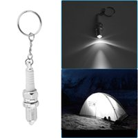 LED Flashlight Keychain Car Auto Parts Keychains Shaped Outs...