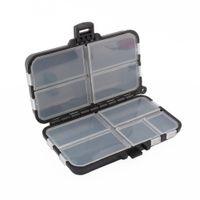 9 compartimentos de almacenamiento caja de la caja de plástico señuelo de cuchara anzuelo caja de aparejos pequeño accesorio Plaza del anzuelo