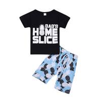 Erkek Bebek Karikatür Suit 13 Tasarım Harf MAMA Ayı Çocuk Tops Casual Giyim Boys Elastik Kısa Pantolon Çocuk Kıyafetler Giyim 06