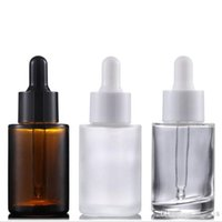 Wholesale 30ml Amber Clear frosted Empty Package Serum Dropp...