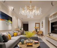 Креативный дизайн современная хрустальная люстра для гостиной современные золотые светодиодные люстры освещение домашнего декора подвесной светильник
