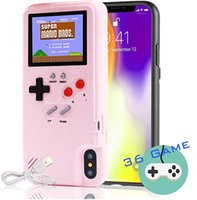 Caso Gameboy Autbye per il caso di esposizione iPhone 11Pro cassa del telefono Game Color console antiurto video gioco in silicone per iPhone 6 7 8plus