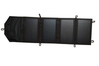 Emergent Chargeur secteur à panneau solaire repliable à haut rendement 7W pour téléphone portable avec USB 5V universel