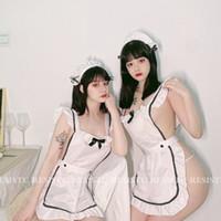 Japonais mignon Cos Pucelle Wears Cosplay Lingerie Sexy Uniforme Servant Français Lolita Hot Costume Robe babydoll érotique Jeu de rôle