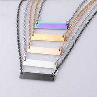 High Quality Stainless Steel Blank Bar Necklaces 5 Colors Ge...
