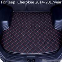 Cip Cherokee 2014-2017year s Araç Anti-skid Trunk Mat Su geçirmez Deri Halı Araç Gövde Mat Düz Pad İçin