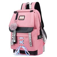 LOOZYKIT Women Large Pink School Backpack For Teenage Girls ...