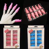 Kunststoff Nail art Sweak Off Cap Clip UV Gel Polish Entferner Wrap-Werkzeugflüssigkeit zur Entfernung von Lackreinigerentferner 7 Farben