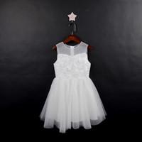 Lovey holy lace princesa flor menina vestidos 2019 vestido de baile primeira comunhão vestidos para meninas sem mangas de tule criança pageant vestidos