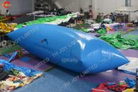 8x3 متر كبير نفخ المياه القفز وسادة حقيبة نفخ الهواء انفجار المياه فقاعة الماء المنجنيق blob الألعاب الرياضية