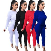 Brand designer women winter outfits hoodie leggings two piec...