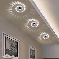 أضواء السقف LED الحديثة 3 واط RGB الجدار الشمعدان غرفة المعيشة الشرفة المدخل ضوء لاعبا اساسيا بار فندق ممر ممرات الأضواء