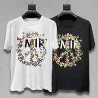 Männer T-Shirt Männer-Frauen-Qualitäts Letter Print Blumen-beiläufige kurze Hülsen-Mode-Männer-T-Shirts