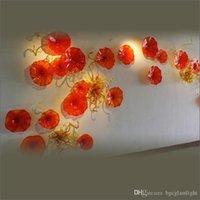 Средиземное Море 100% Ручного Дутья Муранского Стекла Подвесные Плиты Чихули Стиль Современный Ручной Работы Выдувное Стекло Цветок Плиты