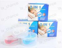 Dropshipping Novo 2em1 Anti Parar Ronco Ronco Livre Silicone Magnético Ronco Rolha Dispositivo de Sono em estoque