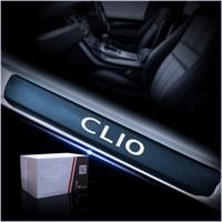 Виниловая наклейка углеродного волокна для Renault Clio Car HOLE CALL Protector Scuff Plate Дверная дверь Plate Наклейки Автомобильные аксессуары