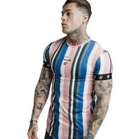 Moda Trend Man Marca T-shirts SIK Seda Ropa Hip Hop Camiseta Designer Casual Tees Tops Tshirt de cuello redondo M-2xl