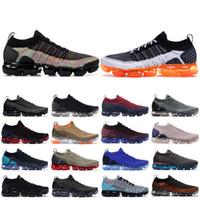 CNY 2019 Triplo Branco Safari Knite 2.0 Homens Mulheres Running Shoes Preto Multi-Cor Hot perfurador BHM Fly Designer Sneakers EUR 36-45