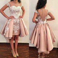 Cheap Fashion Short Prom Cocktail Dresses With Overskirt Whi...