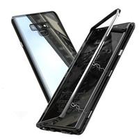 Magnetische Adsorption Metall gehärtetem Glas Case für Samsung Galaxy Note 9