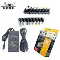 Frete grátis Hot Universal 96W Laptop Notebook 15V-24V AC carregador adaptador de alimentação com 8 destacável Conectores de tensão ajustável