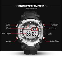 2020 Smael Mens LED Relógios Digital Relógio De Alarme Impermeável LED Esporte Masculino Clock Relógios de Relógios 1620 Top Marca Luxo Esportes Relógios Homens