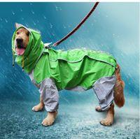 Capa del verano al aire libre del perrito de lluvia para mascotas con capucha chaquetas impermeables PU Impermeable Perros Gatos ropa de la ropa al por mayor de trajes de nylon Corchete