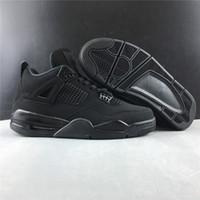 2020 أحذية منخفضة 4 جديد IV القطة السوداء للرجال لكرة السلة 4S الذكور حذاء الرياضة المدربين في الهواء الطلق مع مربع أعلى جودة SIZE 7-13