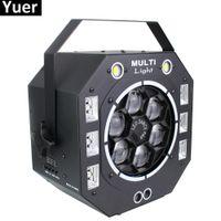 120W LED Disco Light Beam Strobe Láveser UV 4in1 Luces de etapa DJ Disco Sonido Activado Láser Proyector Luz de efecto para la fiesta de Navidad