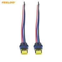 FEELDO 2 UNIDS Coche HID Xenon Bulbo Cable de Enchufe D1 D3 HID Cable Conector para Cable de Alimentación Osram Cable Arnés # 5968