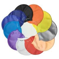الصلبة للماء السباحة قبعات 11 ألوان الرجال النساء هلام السيليكا لمط الأزياء الملونة السباحة قبعات رخيصة الرياضة المائية بالجملة